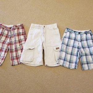 Boys size 10 three pairs shorts